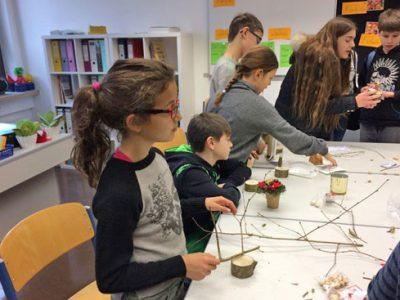 """Spendenaktion """"Garching hilft dem Nikolaus"""" Die 3. und 4. Klasse besuchen die Mittelschule Garching"""