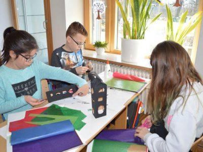 Projektwoche für alle Klassen – Wir gestalten die Dekoration für unser Winterfest