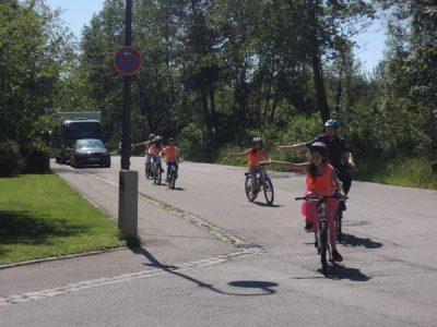 Radfahren im Realverkehr 4. Klasse
