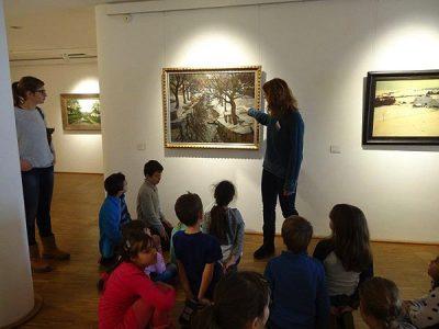 Die 2. Klasse besucht die Gemäldegalerie in Dachau