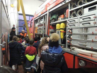 Die 3. Klasse besucht die freiwillige Feuerwehr Hochbrück