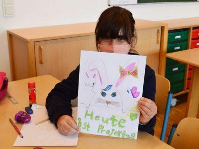 Auch in der Notbetreuung waren die Kinder kreativ